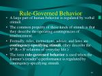 rule governed behavior