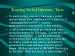 training verbal operants tacts