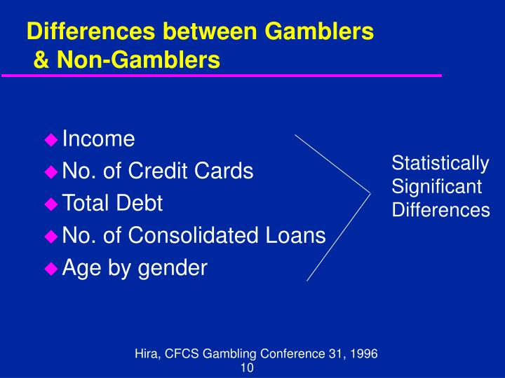 Differences between Gamblers
