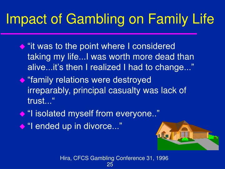Impact of Gambling on Family Life