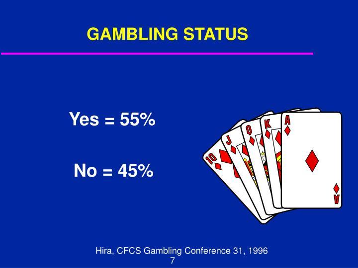GAMBLING STATUS