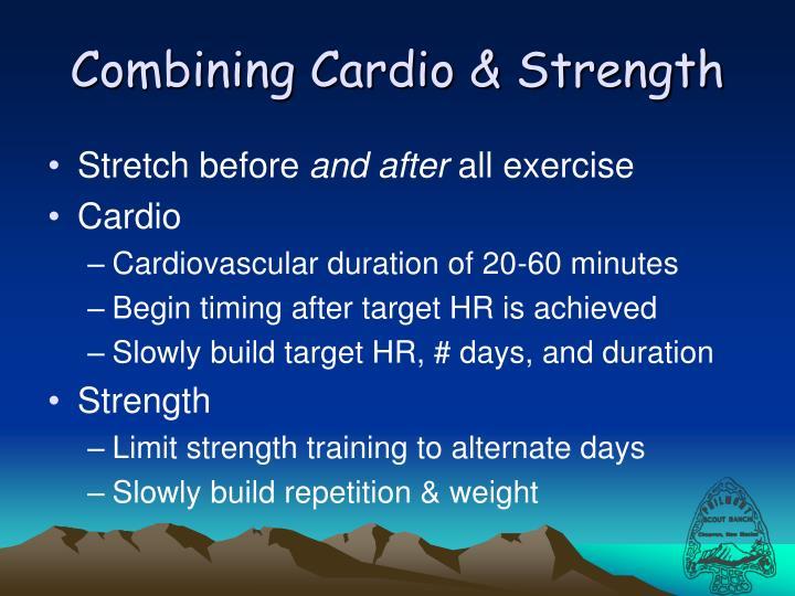 Combining Cardio & Strength