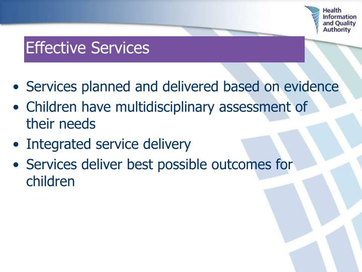 Effective Services
