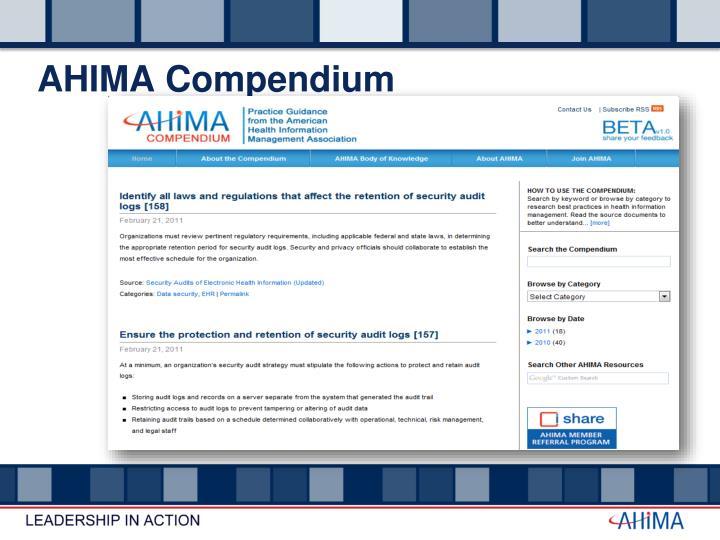 AHIMA Compendium