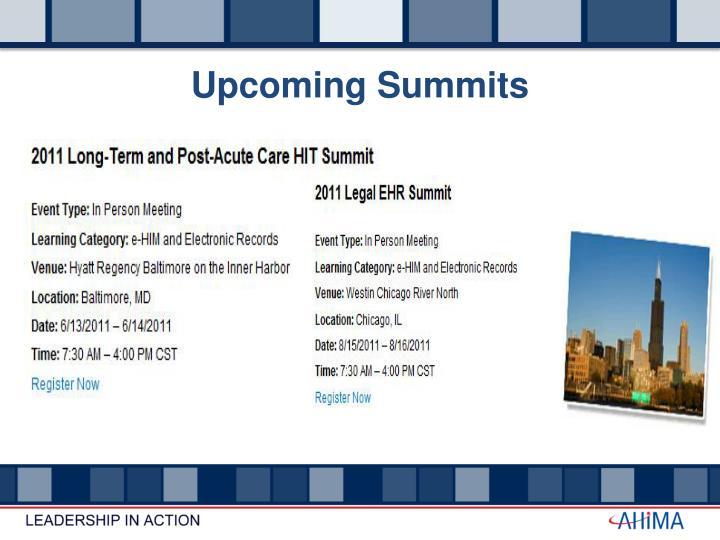 Upcoming Summits