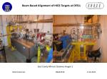 beam based alignment of higs targets at dfell12