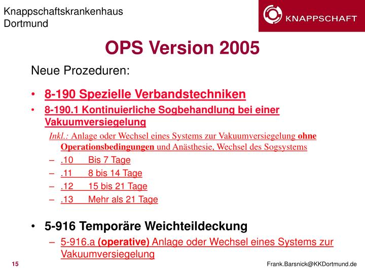 OPS Version 2005