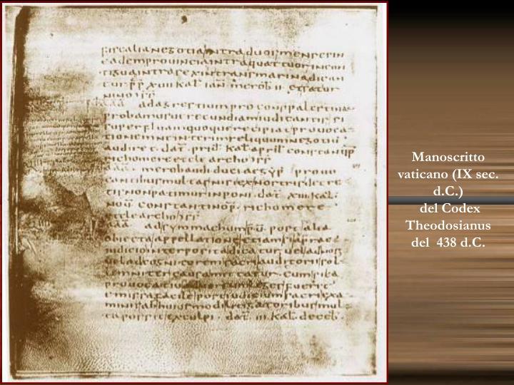 Manoscritto vaticano (IX sec. d.C.)