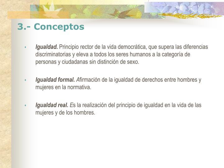 3.- Conceptos