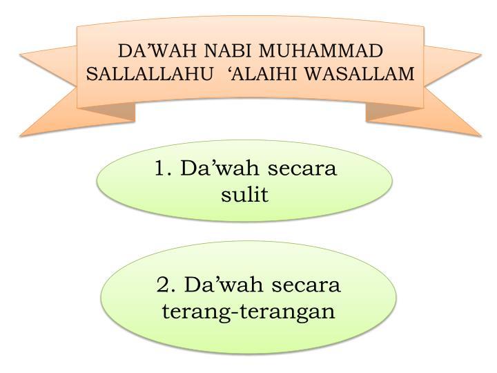 DA'WAH NABI MUHAMMAD SALLALLAHU  'ALAIHI WASALLAM