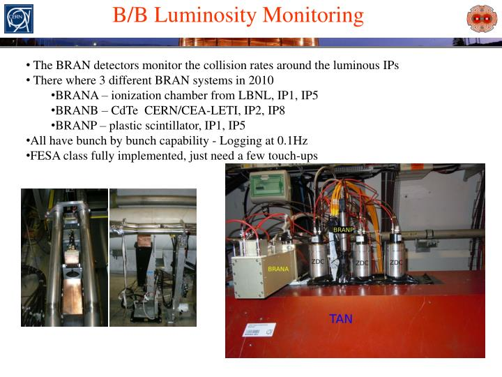 B/B Luminosity Monitoring
