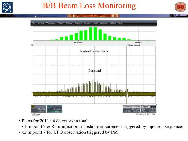 B/B Beam Loss Monitoring