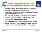 example use of pso at rostock laage airport region mecklenburg vorpommern d