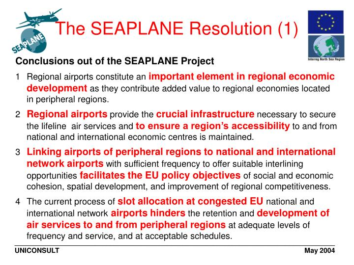 The SEAPLANE Resolution (1)