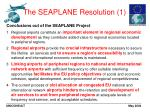 the seaplane resolution 1