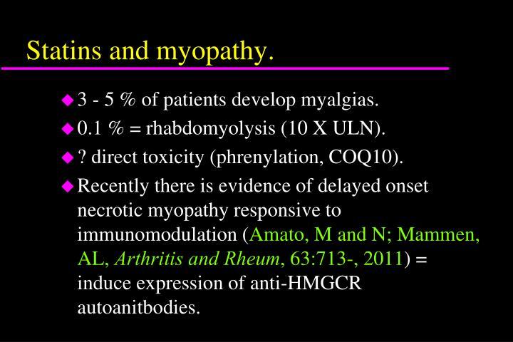 Statins and myopathy.