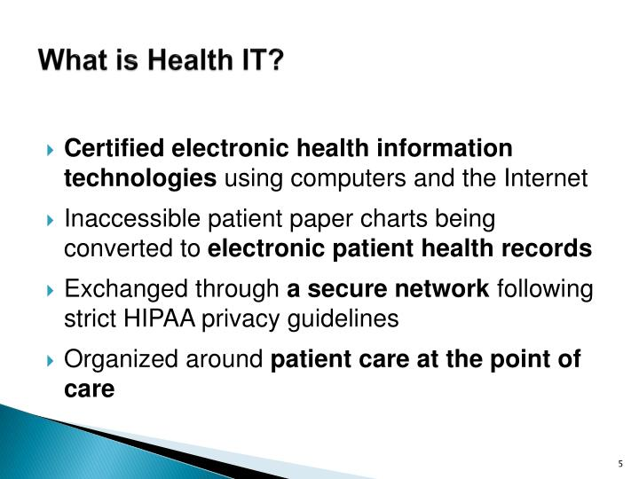 What is Health IT?