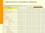 grids filled by an external observer1