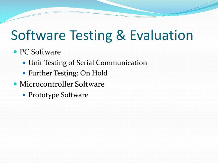 Software Testing & Evaluation