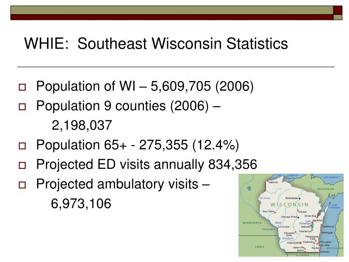 WHIE:  Southeast Wisconsin Statistics