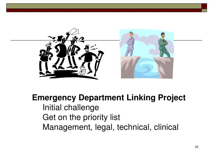 Emergency Department Linking Project