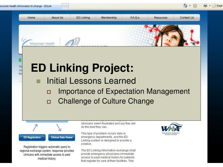 ED Linking Project: