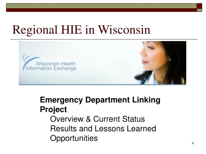 Regional HIE in Wisconsin