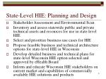 state level hie planning and design