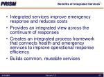 benefits of integrated services
