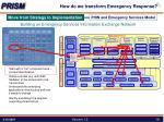 how do we transform emergency response9