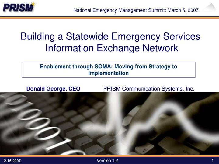 National Emergency Management Summit: March 5, 2007