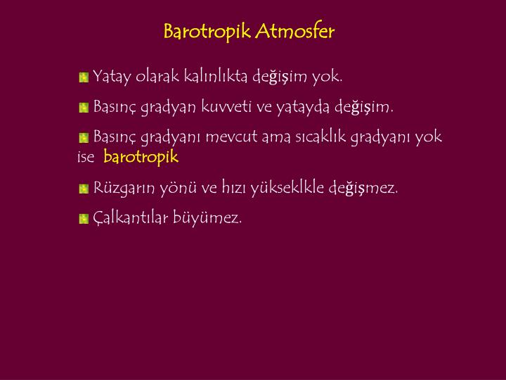 Barotropik Atmosfer