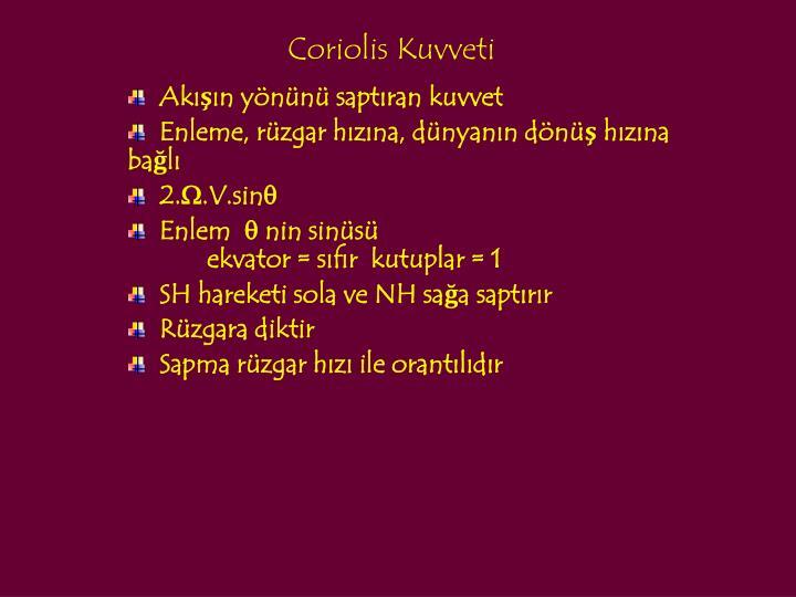 Coriolis Kuvveti