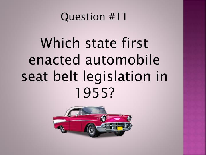 Question #11