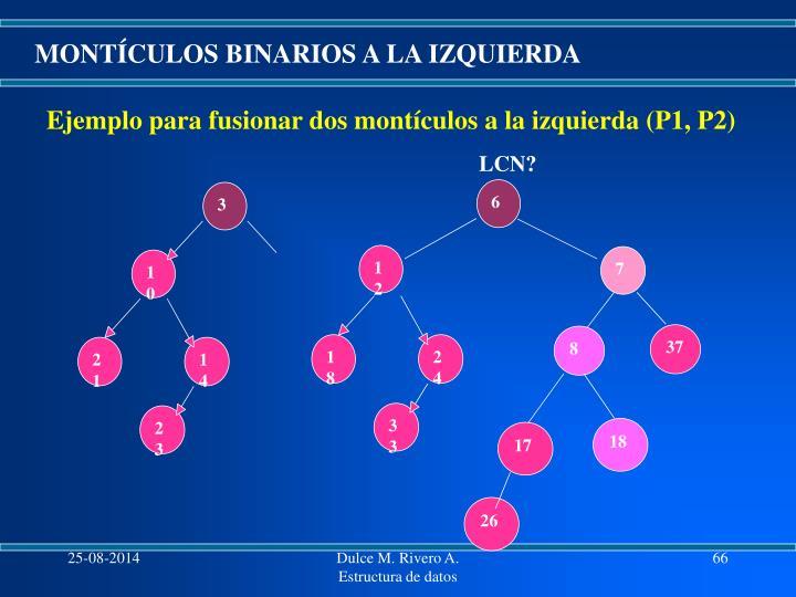 MONTÍCULOS BINARIOS A LA IZQUIERDA