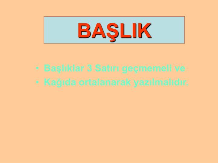 BAŞLIK