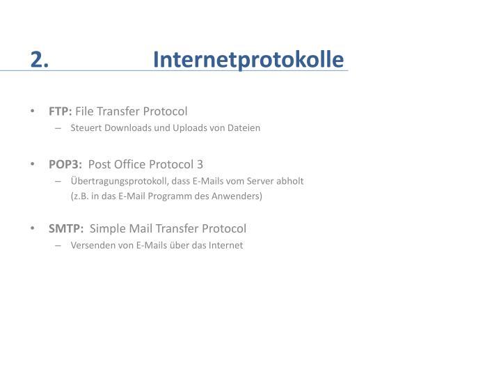 2.     Internetprotokolle