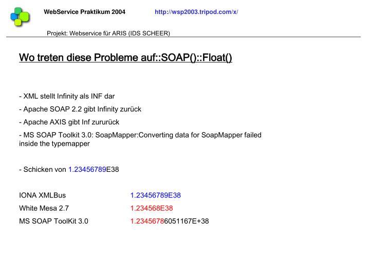 Wo treten diese Probleme auf::SOAP()::Float()