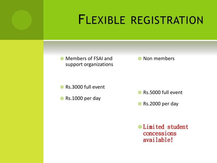 Flexible registration