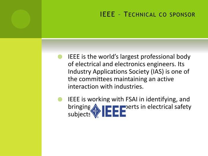 IEEE – Technical co sponsor