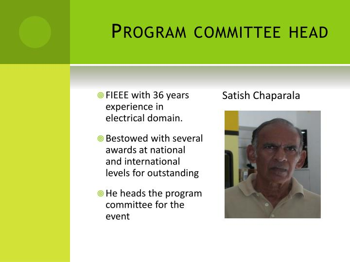Program committee head