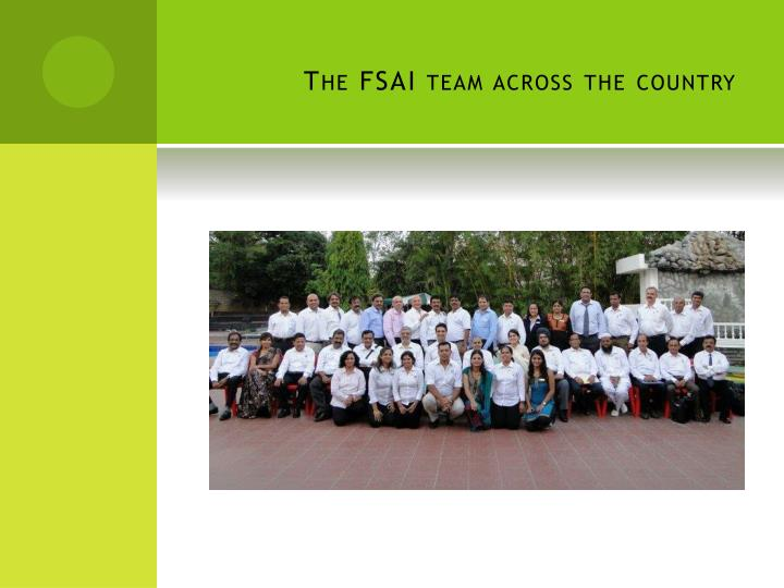 The FSAI team across the country