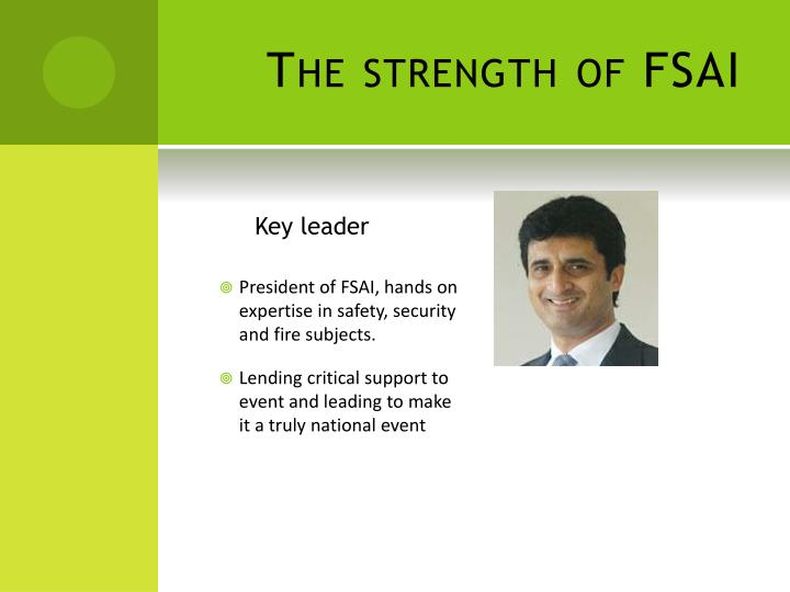 The strength of FSAI