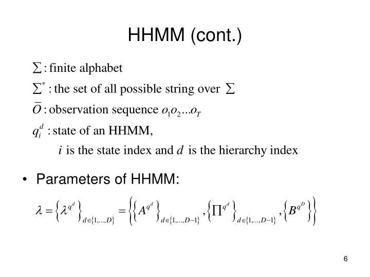 HHMM (cont.)