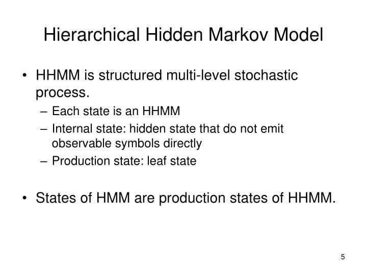 Hierarchical Hidden Markov Model