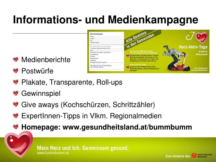 Informations- und Medienkampagne