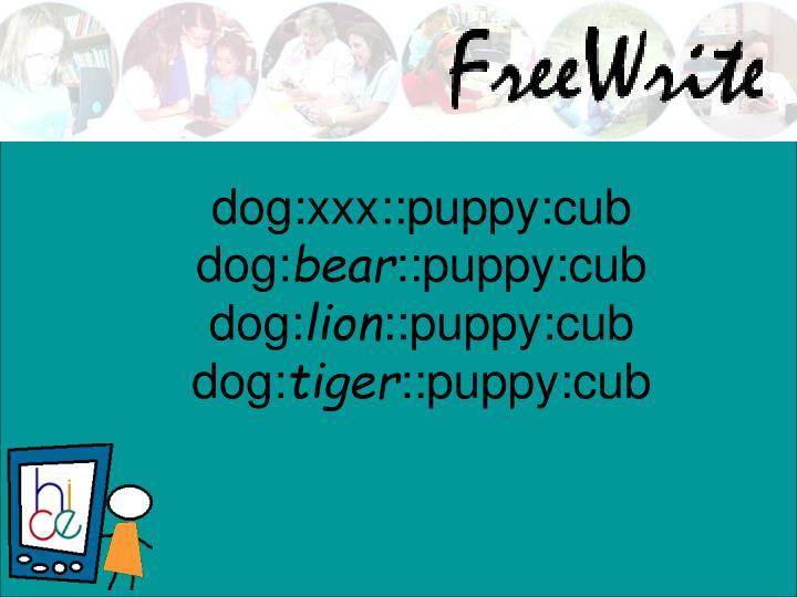 dog:xxx::puppy:cub