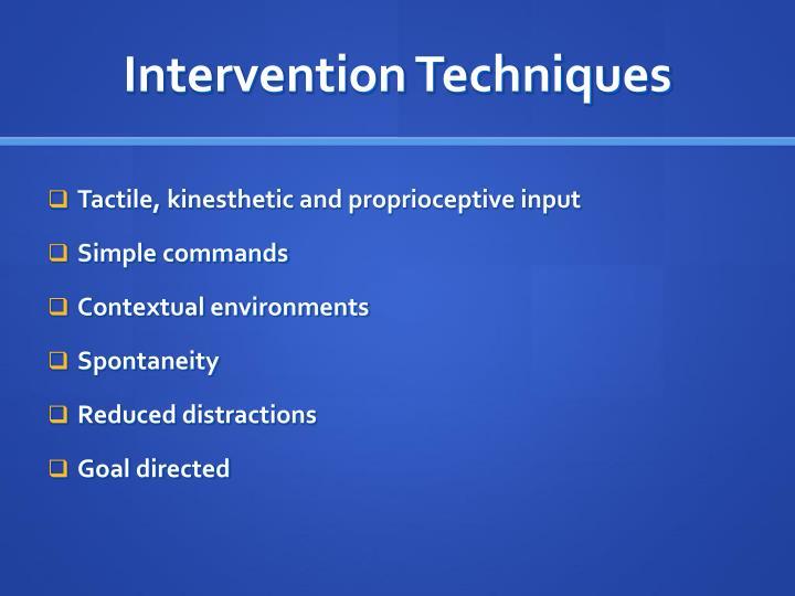 Intervention Techniques