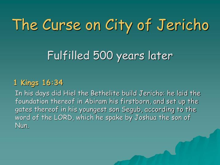 The Curse on City of Jericho