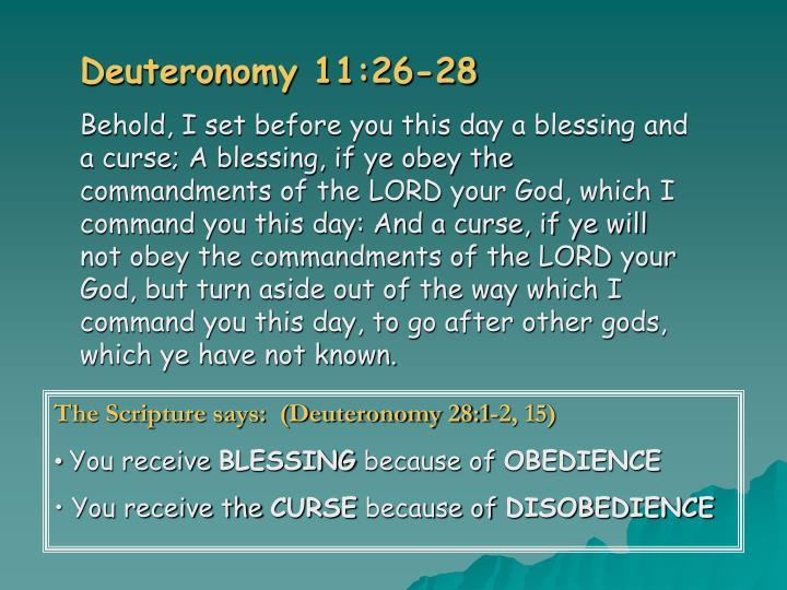 Deuteronomy 11:26-28